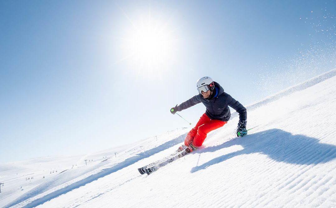 Man står da også på ski i foråret